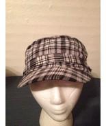 Black White Checkered Plaid Military Cadet Hat Cap Stretch Fit (hb7) - $9.49
