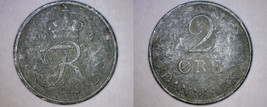 1967 Danish 2 Ore World Coin - Denmark - $2.99