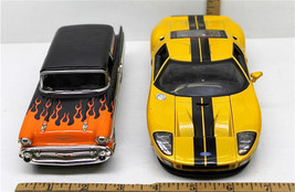2005 Ford GT 1/24 Diecast Jada + 1957 Chevy Vehicle Bank Auto Zone L.E. w/ Key - $32.71