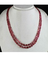 BEST NATURAL RED SPINEL BEADS CABOCHON 2 LINE 232 CARATS GEMSTONE NECKLACE - $2,090.00