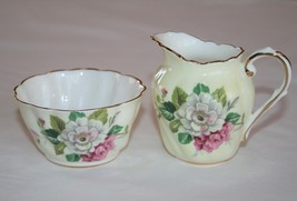 Paragon England Pale Yellow Floral Individual Creamer & Open Sugar  #2231 - $24.00