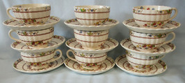 Spode Cowslip S713 Cup & Saucer, Set of 9, USED - $80.08