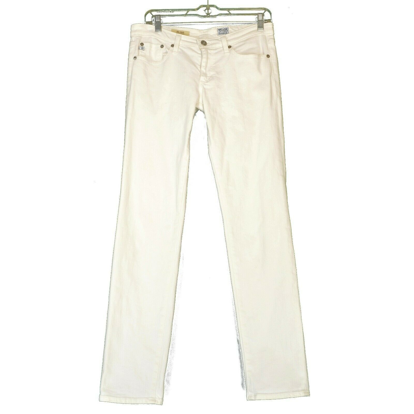 AG Adriano Goldschmied jeans 29 x 31 Stilt cigarette leg White thick EUCUSA image 10