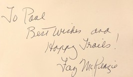 Faye Mc Kenzie Autographed Hand Signed 3x5 Index Card Signature Western Actress - $29.99