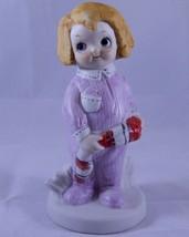 Vintage Dolly Dimple Braymer Hall Figurine Christmas Eve 1981 Bisque Por... - $12.19