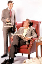 Jack Klugman and Tony Randall in The Odd Couple seated in chair reading newsp 24 - $23.99