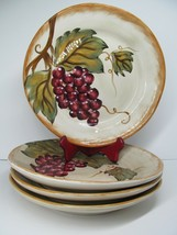 """Tabletops Gallery Napa Red 11 1/4"""" Dinner Plates Set Of 4 Plates GC Hand... - $77.42"""