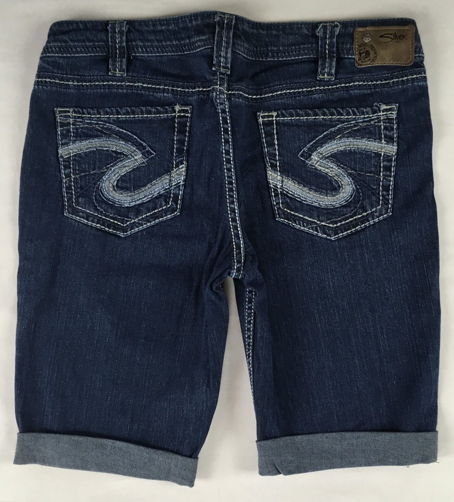 SILVER Jeans Sale Buckle Cheap Mid Rise Aiko Denim Jean Stretch Mid Shorts 32