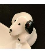 Set Of Dog 3-D Cup Plates White Black Dog Bone - $41.58