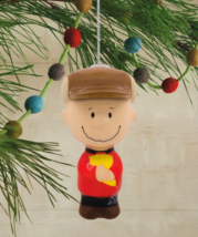 Hallmark Peanuts Charlie Brown Decoupage Christmas Ornament New with Tag image 4