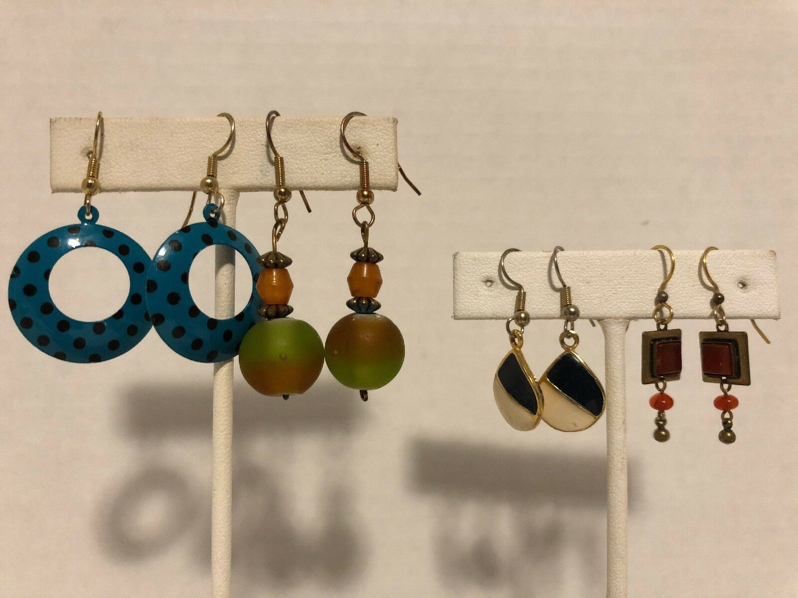 Primary image for 4 Pair Of Vintage Dangle Pierced Earrings