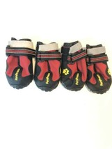 4 Dog Boots Feet Cover Paw Protectors Shoes Waterproof Dog Non Slip Size 3 - $19.68