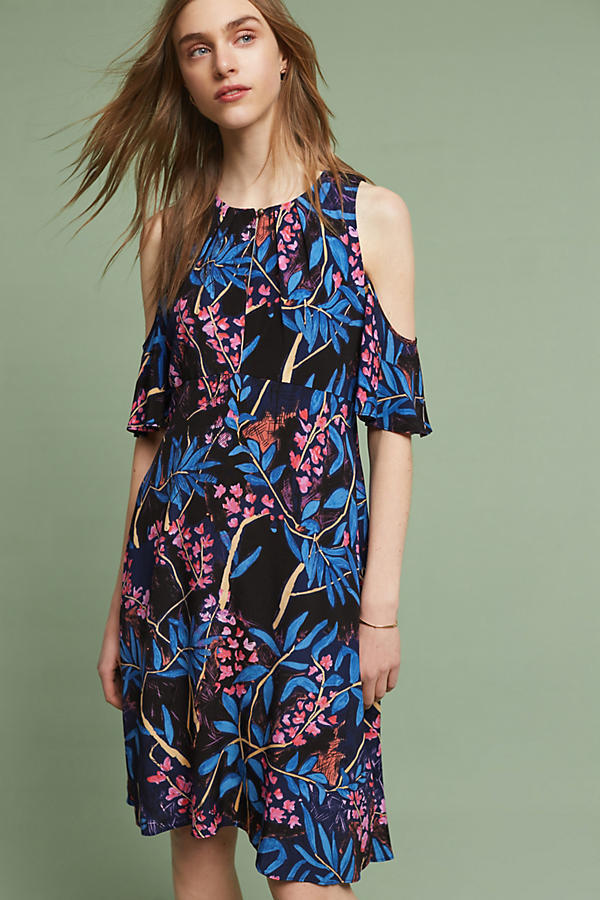 NWT ANTHROPOLOGIE ELIA OPEN-SHOULDER DRESS by MAEVE 10