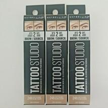 3x Maybelline Tattoo Studio Waterproof Brow Gel Fill Eyebrows #248 Light Blonde - $14.99