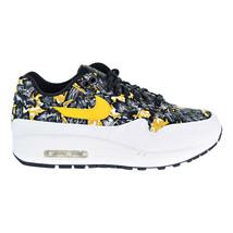 Nike Air Max 1 QS Women's Shoes White-University Gold-Black 633737-100 - £81.41 GBP