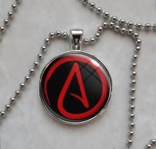 Atheist Symbol Choose Your Color Agnostic Freethinker Skeptic Pendant Ne... - $14.00+