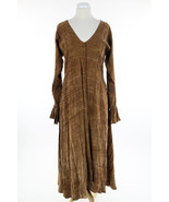 OS DRESS TO KILL by JANE MOHR Brown Lace up Maxi Lagenlook Jumper Dress ... - $103.99