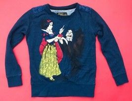Disney Fairytale Snow White Sweatshirt Shirt S Lace Back Witch Red Apple Top - $13.85