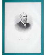 LEWIS MILLER Ohio Buckeye Mower & Reaper Inventor - 1883 Superb Portrait... - $19.80