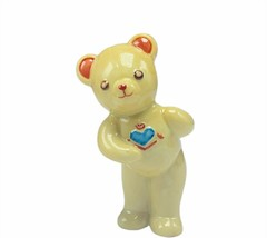 Franklin Mint tribute teddy bear porcelain figurine sculpture vtg beige ... - $29.65