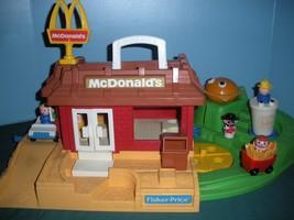 Vintage Fisher Price #2552 McDonald's Play Set Complete + BONUS!/VG++-EXC (N) image 4