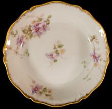 CH Field Haviland Limoges GDA France Floral Design Dish / Low Bowl Purple Flower - $25.99