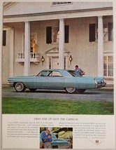 1964 Print Ad Cadillac 4-Door Coupe Golfer Checks Out Car - $11.56
