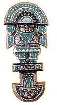 Alpakaandmore Inca Priest Tumi Knife Plaque Plate Copper Turquoise (5.91... - $36.43