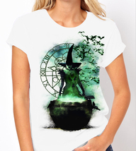 Elphaba: Wicked - Wicked Witch of the West - Ladies White Tee Shirt - $16.70