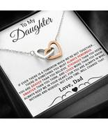 To My Daughter Necklace, Daughter Father Necklace, Daughter Gift from Dad - $37.99