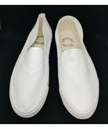 Bob Barker Step-In White Canvas Arch Support Deck Shoes, Women 12, Men 1... - $6.92