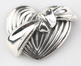 Lagos Caviar Sterling Silver AIDS Project Heart Ribbon Brooch 1992 - $374.22