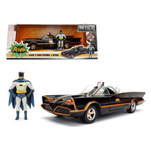 1966 Classic TV Series Batmobile with Diecast Batman and Plastic Robin in the ca - $40.68