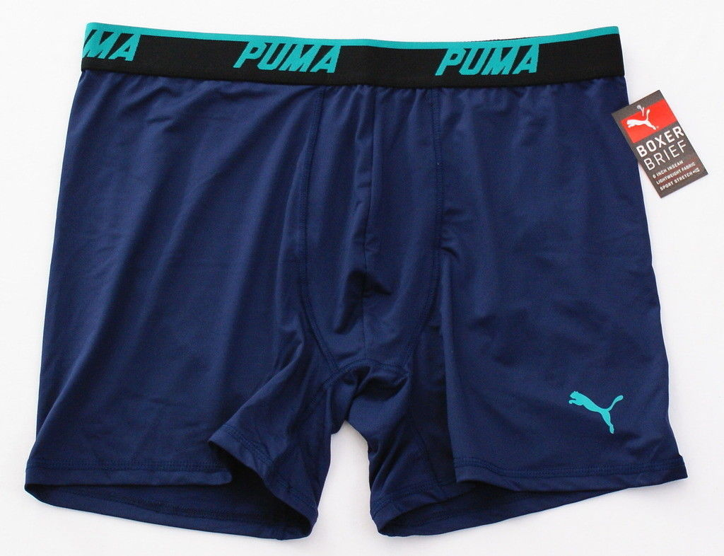 Puma Blue Lightweight Stretch Boxer Brief Men's NWT