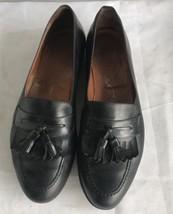 Salvatore Ferragamo Black Leather Tassel Kiltie Loafers Men's Size 11.5D - $31.68