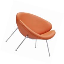 LexMod Nutshell Mid-Century Style Lounge Chair in Orange VinylOrange - €197,54 EUR