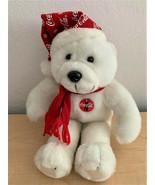 "1998 Coca-Cola 9"" Plush Christmas Polar Bear - New - $14.85"