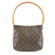 #31944 Louis Vuitton Looping Bucket Mm Tote Brown Monogram Canvas Should... - $500.00
