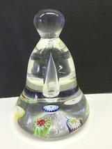 Vintage Art Glass BELL Shape Millefiori Paperwe... - $19.99