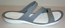 Crocs Size 10 SWIFTWATER Smoke White Sandals New Womens Shoes - $68.31