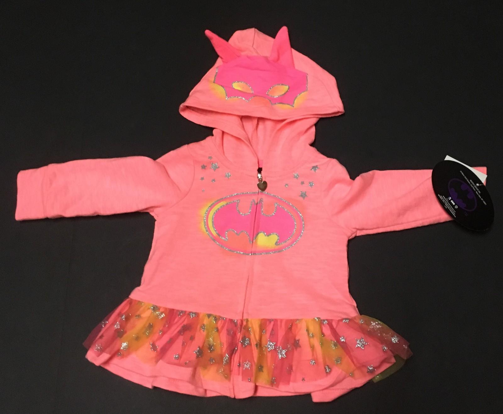 Toddler Girls Batman Hoodie Jacket NWT 18 Mos