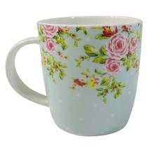 2 x CANTERBURY BLAU ROSA ROSEN BLUMEN FEINES PORZELLAN TEE KAFFEE BECHER... - $16.34