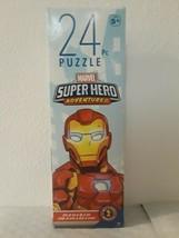 Marvel Iron Man Spider Girl Hulk Adventures Avengers 24 Pcs Jigsaw Puzzle - $3.47