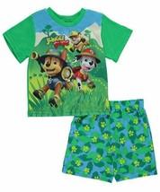2T Toddler Boy's Paw Patrol Pajamas Jungle Pups 2-pc Shirt and Shorts Licensed