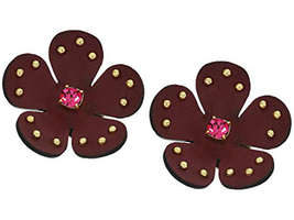 Kate Spade New York Blooming Bling Leather Stud Earrings Burgundy - $48.00