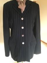 Damen Blazer, Us Größe 12, Blau, Geometrisch, Wolle, Max Mara .nwot - $149.08