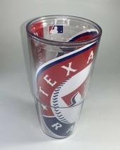 Tervis MLB Texas Rangers  Tumbler, 24 oz, Clear bold graphic EUC - $13.36