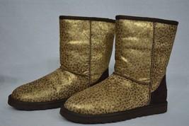 NIB! UGG Australia Womens Classic Short Metallic Leopard Calf Hair (LMTL) Size 8 - $174.00