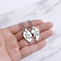 2 Pcs Women's Fashion Necklace Set Letter Design Patchwork Heart Accessories - $8.99