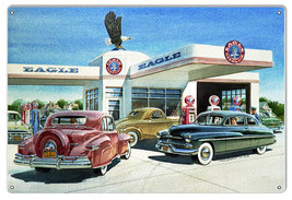 Eagle Gas Station Reproduction Motor Oil Sign By Jack Schmitt 12x18 - $25.74